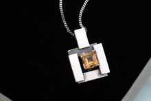 Load image into Gallery viewer, Silver Square Pendant