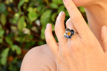 Load image into Gallery viewer, Flower Citrine Ring