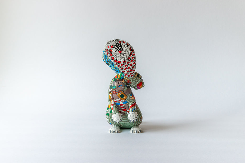 Rabbit with Zapotec Pattern