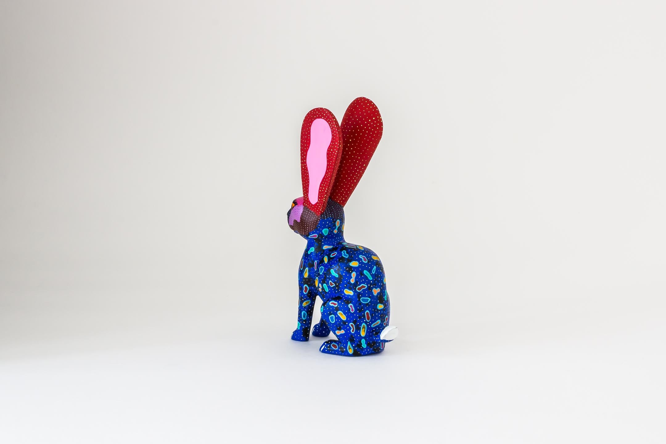 Blue Rabbit with Golden Nose