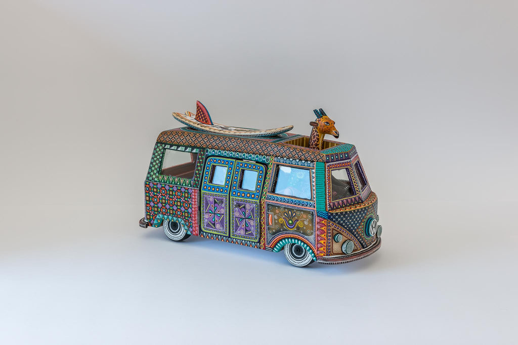 VW Van with Surfboard