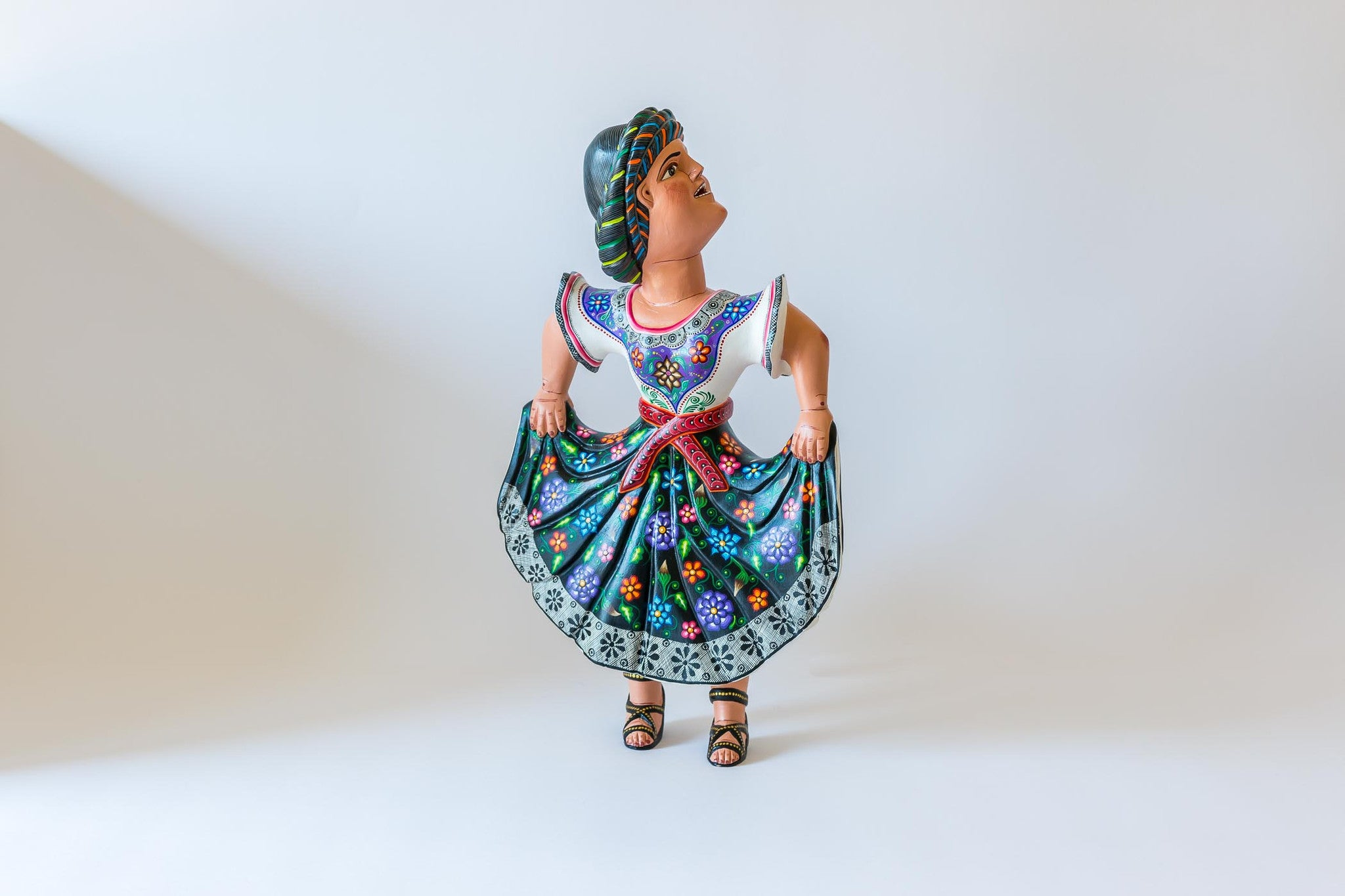 Oaxacan wood carving Agustin Cruz Tinoco Dancing Women View one