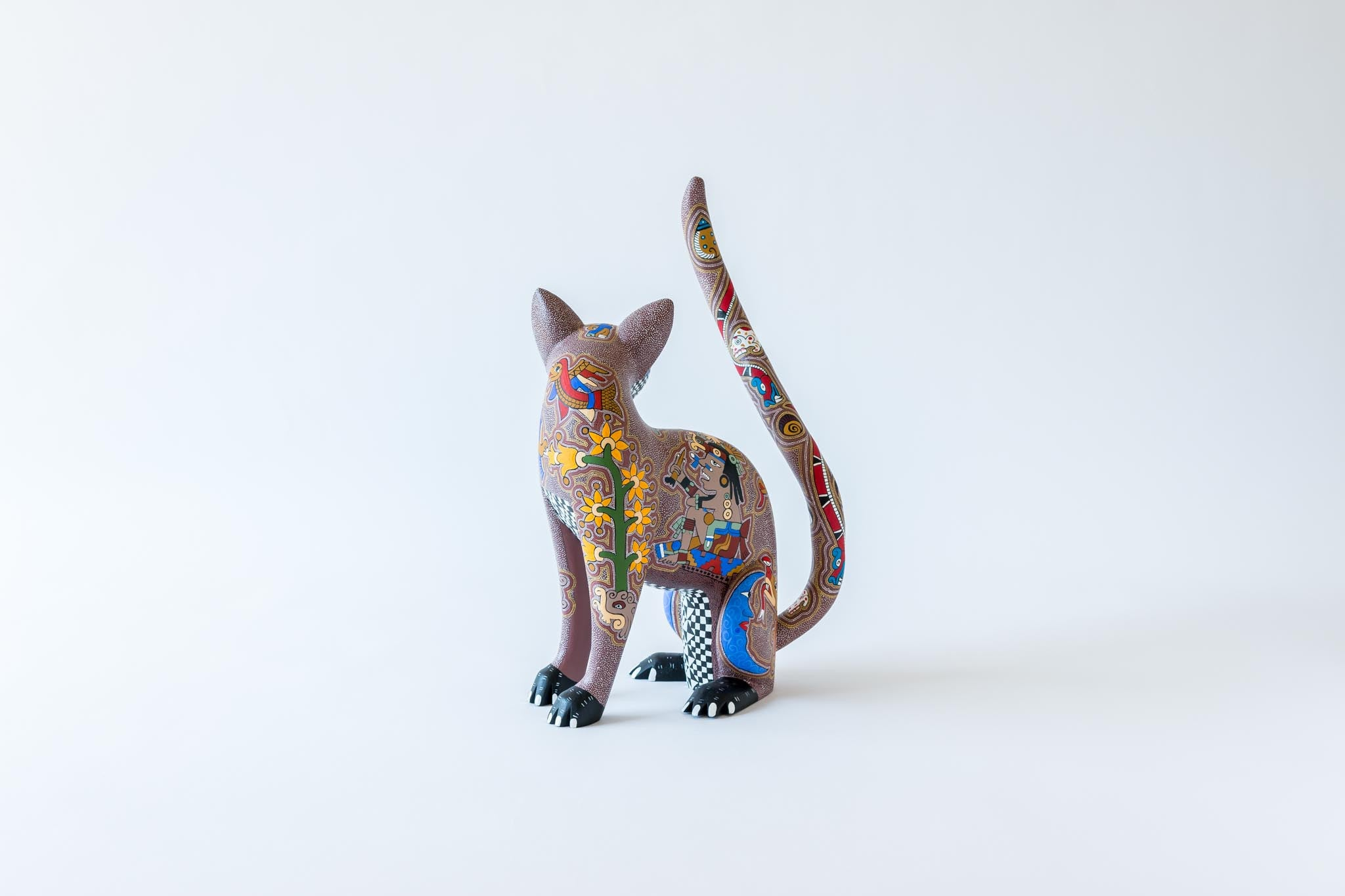 Cat with Zapotec Pattern