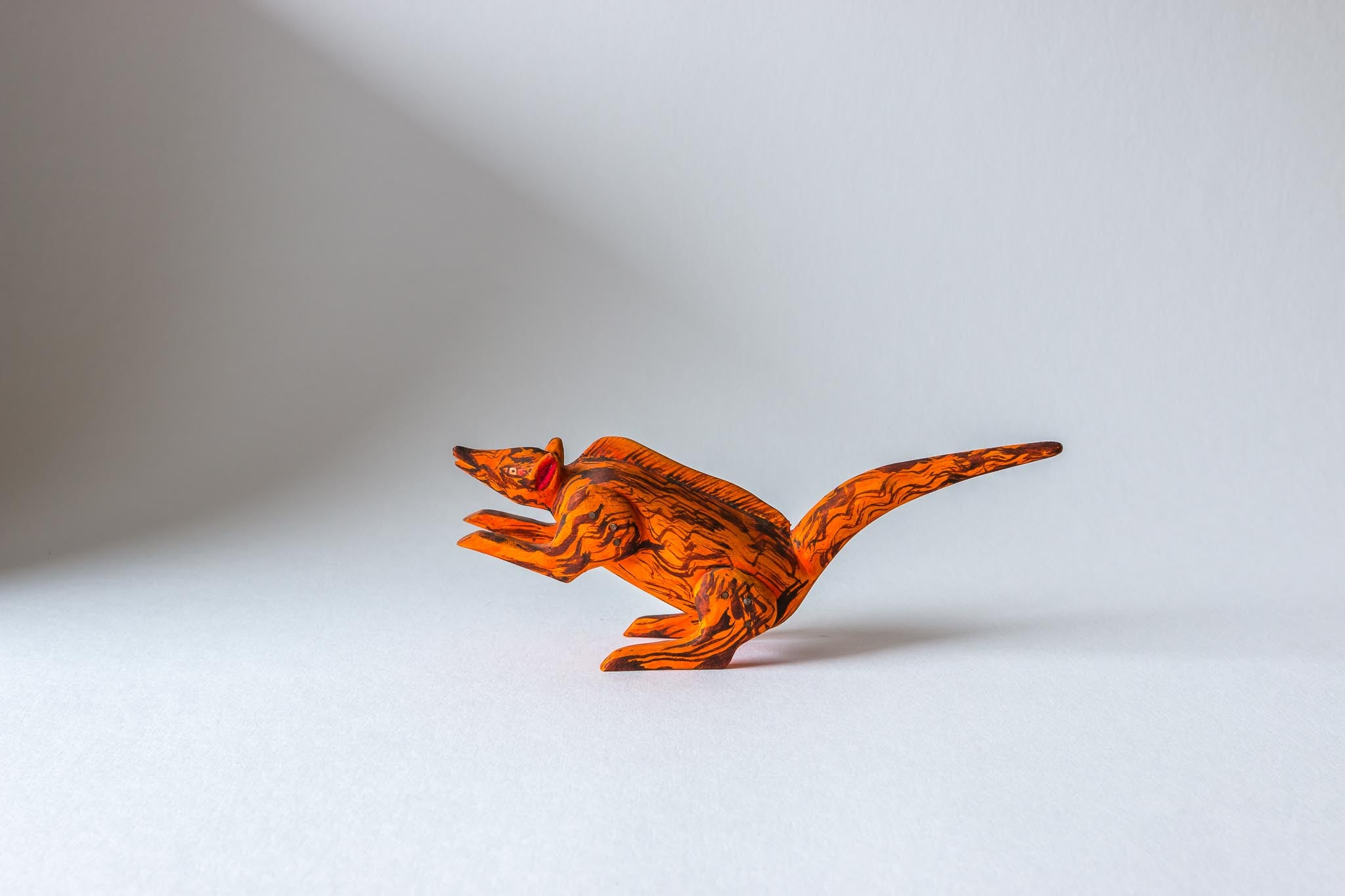 oaxacan wood carving meliton sarate orange animal