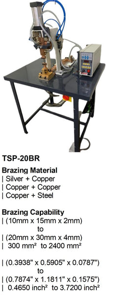 Electroweld Table Mounted Pneumatic Brazing Machine 20KVA (TSP-20BR)