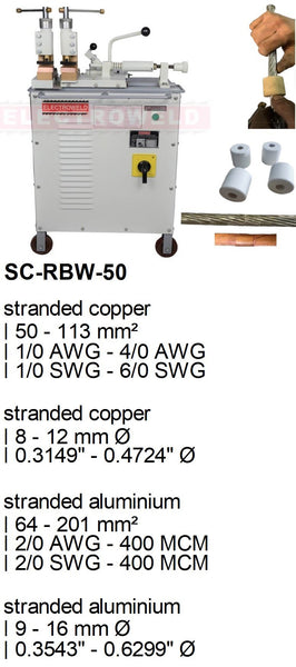 Electroweld Hand Operated Stranded or Bunched Conductor Welder 50KVA (SC-RBW-50)