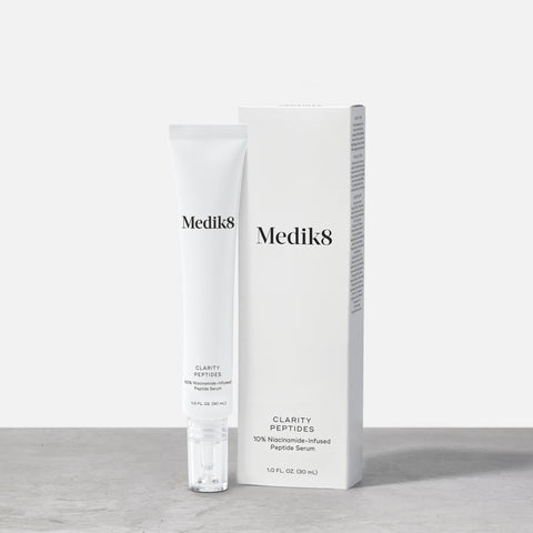 Clarity Peptides by Medik8. A 10% niacinamide-infused peptide serum.