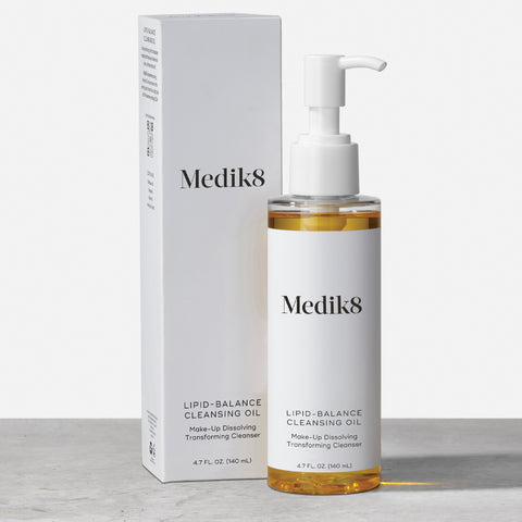 Lipid-Balance Cleansing Oil by Medik8. A makeup dissolving transforming cleanser.