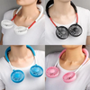 PORTABLE HANGING NECK SPORTS FAN - MINI USB PORTABLE NECKBAND WITH RECHARGEABLE BATTERY SMALL AIR COOLER CONDITIONER