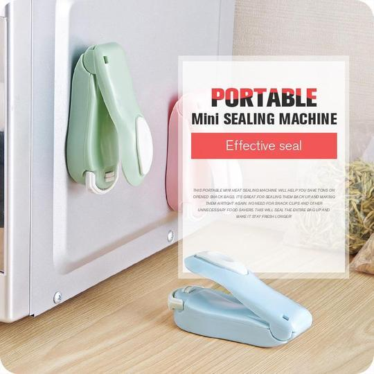 PORTABLE MINI SEALING HOUSEHOLD MACHINE (BUY 1 GET 1 FREE) - HEAT SEALER CAPPER FOOD SAVER FOR PLASTIC BAGS PACKAGE GADGETS