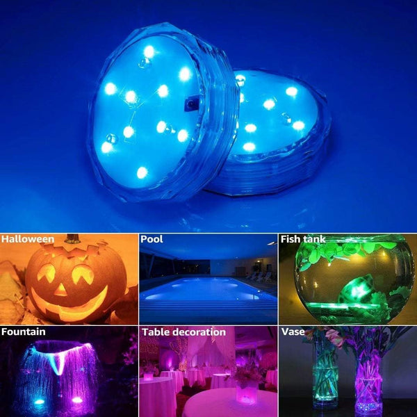 LEDFANTASY - CHANGE ANY BACKYARD FROM 'MEH' TO 'WOW' - IP68 WATERPROOF 16 COLOR SUBMERSIBLE LED LIGHTS