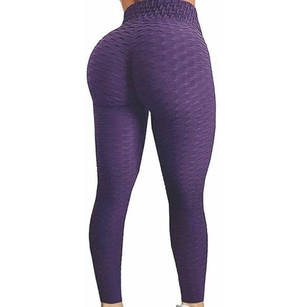 BOOTY LIFTING & ANTI-CELLULITE FITNESS LEGGINGS - HIGH WAIST WOMEN WORKOUT PUSH UP LEGGING FASHION SOLID COLOR BODYBUILDING PANTS