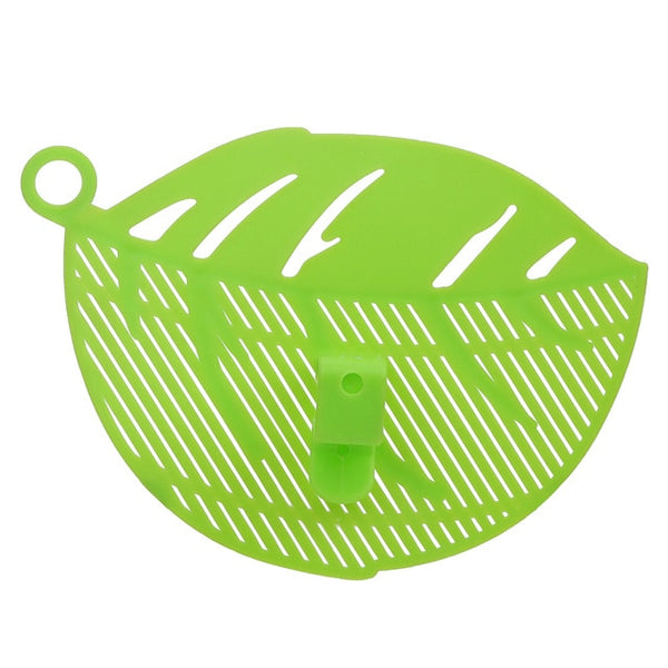 Rice Wash Filtering Baffle Sieve Beans Peas Washing Filter Drain Board Snap-type Leaf Shape Rice Cleaning Strainer Gadget