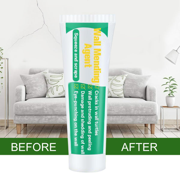 WALL MENDING AGENT (GIFT GIVING NOW: SCRAPER) - VALID MOULD PROOF WALL MENDING AGENT WALL REPAIR CREAM WALL CRACK NAIL REPAIR QUICK-DRYING PATCH RESTORE
