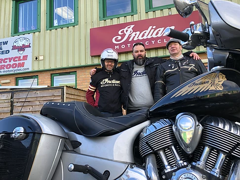 we had our first ride out and we had around 30 riders scheduled to join in to head down to Poole to test ride some of the new Indian bikes along with the new Challenger.