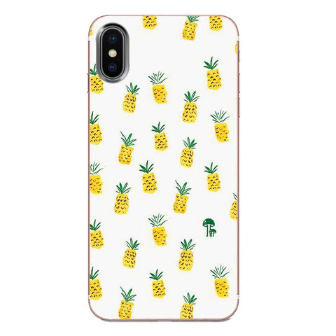 Coque Ananas Blanc pour Apple iPhone X