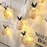 Decoration ananas lampe (1.5m 10LEDs + batterie) - Univers Ananas