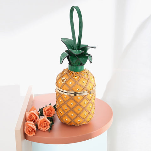 Sac Dessin Ananas Orange