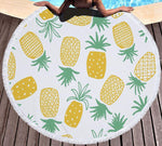 Drap de Piscine Avec Ananas Orange - Univers Ananas