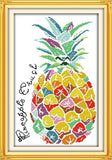 Ananas coloré tableau 18ct unprint canvas - Univers Ananas