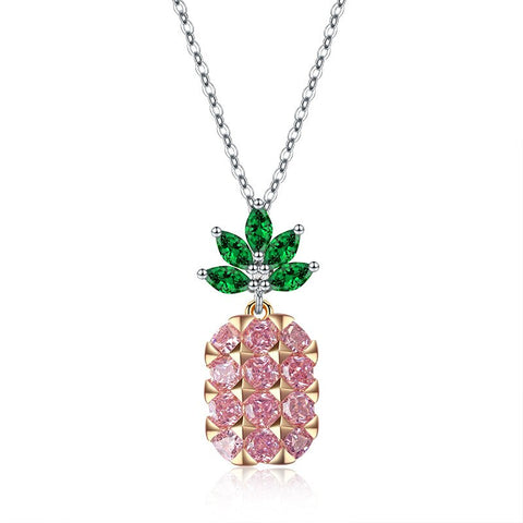 Bijoux ananas collier Crystal