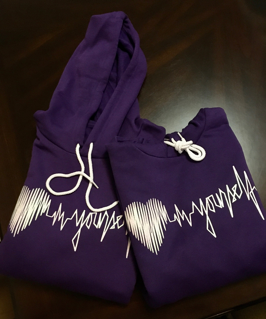 Love yourself purple soft fleece hoodie