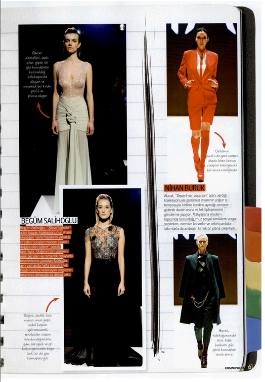 Begüm Salihoğlu Couture fashion show during MBFWI is featured on Cosmopolitan