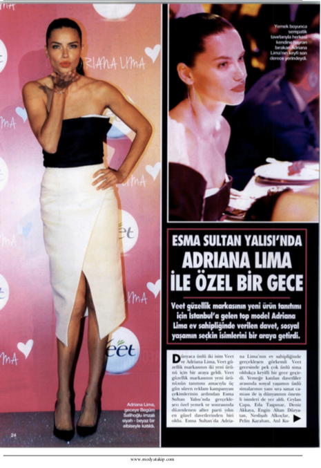 Adrina Lima's choice Begum Salihoglu Couture black and white organza party dress for a special event