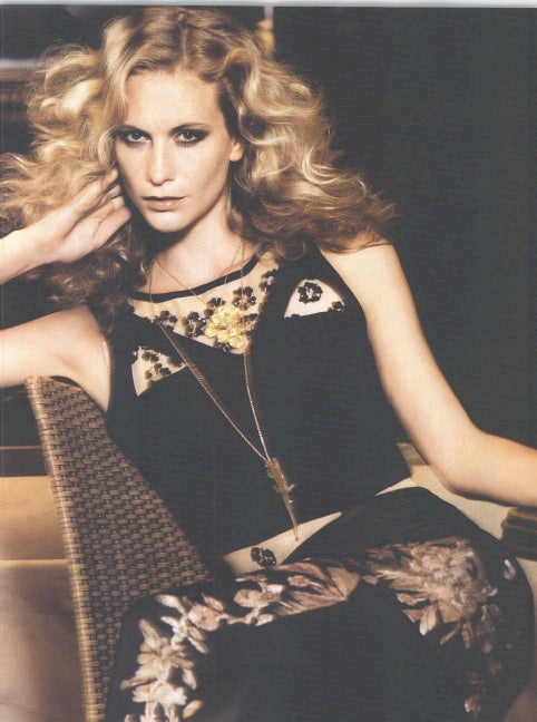 Poppy Delevingne wearing Begüm Salihoğlu haute couture pants and tops for the VOGUE magazine shooting