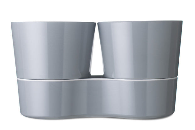 Kruidenpot twin - grey