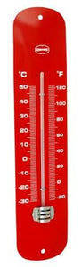 Thermometer retro rood