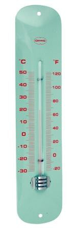 Thermometer retro blauw