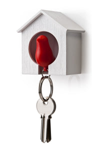 Sparrow Sleutelhanger, Wit-Rood