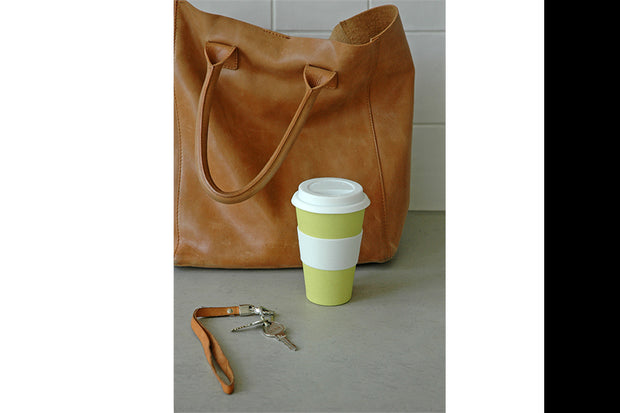 Koffie travel mok - Lemony yellow