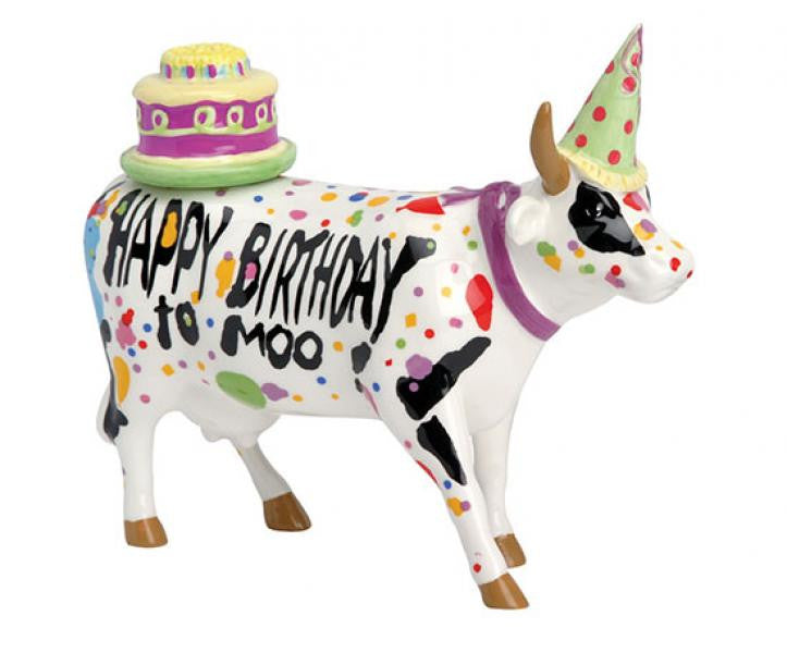 Happy Birthday To Moo! (medium ceramic)