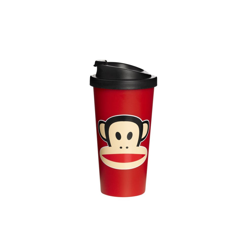 Drinkbeker To Go met deksel 500ml rood