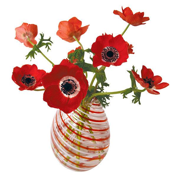 FlatFlowers raamsticker 'Anemone Red'