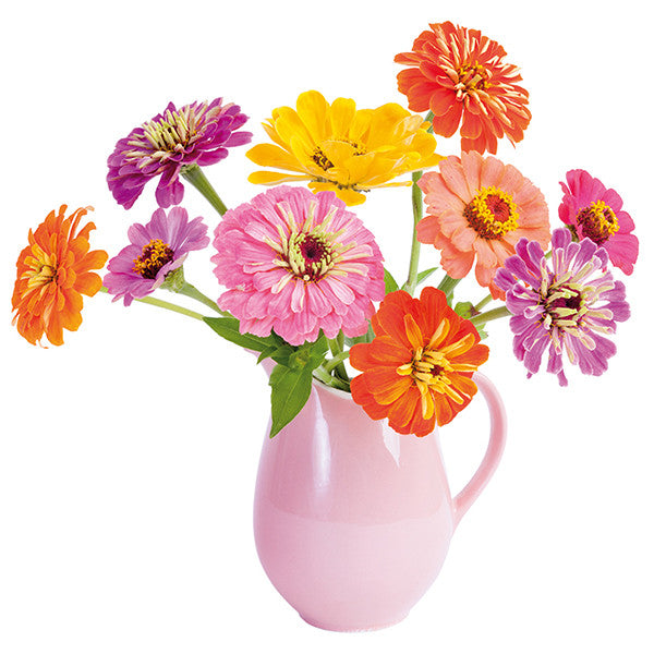 FlatFlowers raamsticker 'Zinnia'