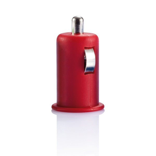 Micro car USB charger rood