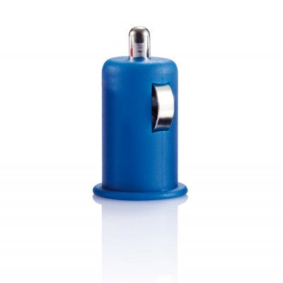 Micro car USB charger blauw
