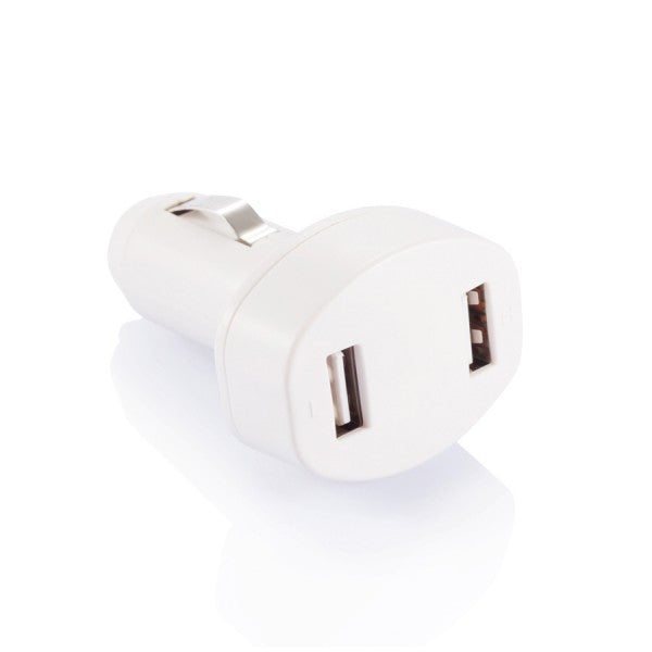 Double USB car charger wit