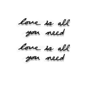 MANTRA Wanddecoratie Love is all you need - zwart