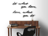 MANTRA Wanddecoratie do what you love - zwart