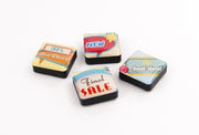 Magneten Icon Retro Signs - 4 stuks