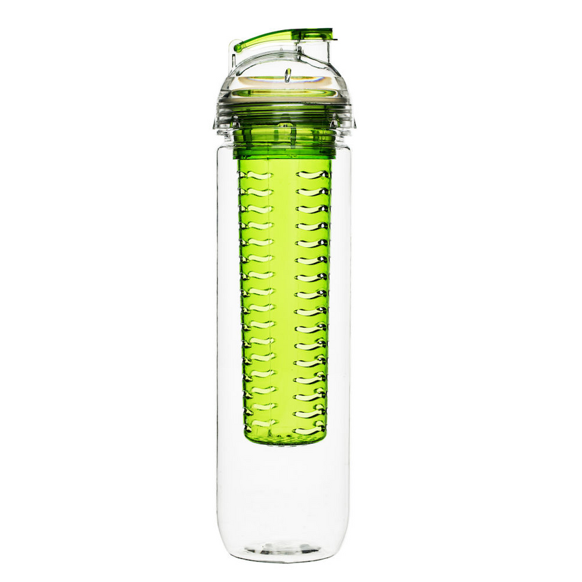 Waterfles FRESH met fruit infuser groen