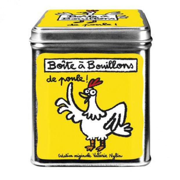 Broth cube blik Poupoule - yellow