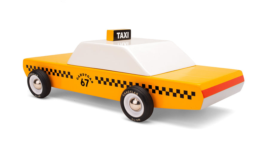 Candylab - TAXICAB - houten auto geel