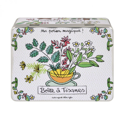 Herb tea blik (with dividers) Potion magique - white