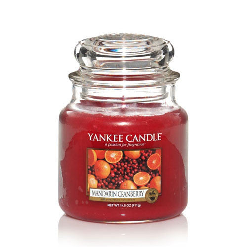 Geurkaars Medium Jar - Mandarin Cranberry