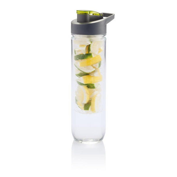 Water fles met fruit infuser 800ml groen